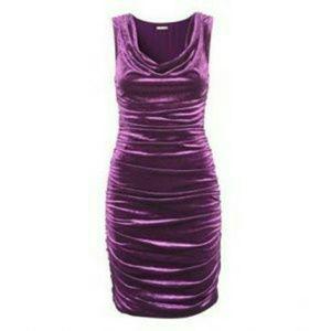 Ruched velvet dress- like new